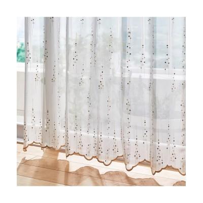 小花とスパンコールが上品なトルコ刺繍レースカーテン(1枚)【1cm単位オーダー】 レースカーテン・ボイルカーテン, Curtains, sheer curtains, net curtains(ニッセン、nissen)