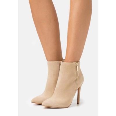 レディース 靴 シューズ LEATHER - High heeled ankle boots - beige