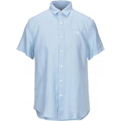 ティンバーランド TIMBERLAND メンズ シャツ トップス Linen Shirt Sky blue