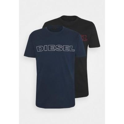 ディーゼル Tシャツ メンズ トップス 2 PACK - Print T-shirt - blue/black