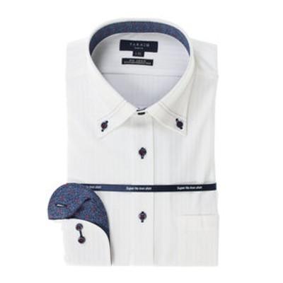 ノーアイロン高機能 スリムフィットボタンダウン長袖ニットビジネスドレスシャツ/ワイシャツ