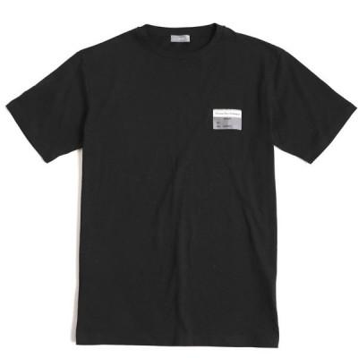 美品◆19SS ディオールオム 923J611B0533 ビジターパッチ付き コットン100% 半袖 Tシャツ ブラック XS 正規品 イタリア製