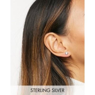 テッドベーカー レディース ピアス・イヤリング アクセサリー Ted Baker Sinaa stud earrings with Swarovski crystal in silver Silver