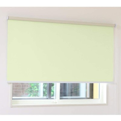 ロールスクリーン アゲインスト(グリーン)幅90×丈210cm 1本 (防音 断熱 遮光1級)