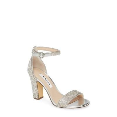 ニナ サンダル シューズ レディース Spring Crystal Embellished Sandal Silver Fabric