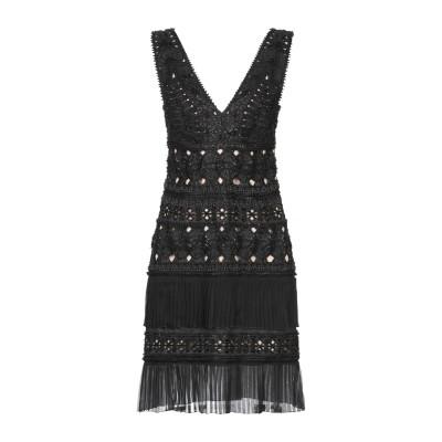 アルベルタ フェレッティ ALBERTA FERRETTI ミニワンピース&ドレス ブラック 42 コットン 100% / シルク ミニワンピース&