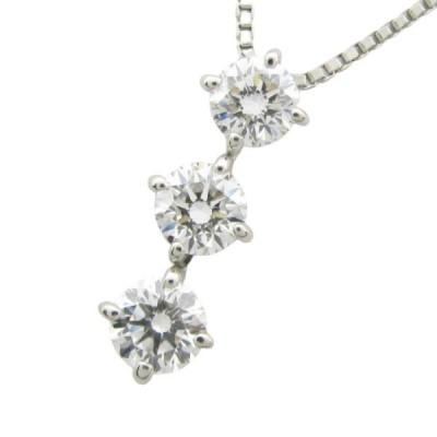ジュエリー ダイヤモンドネックレス トリロジー レディース PT850(プラチナ)×ダイヤモンド 1.507ct(0.461+0.511+0.535)