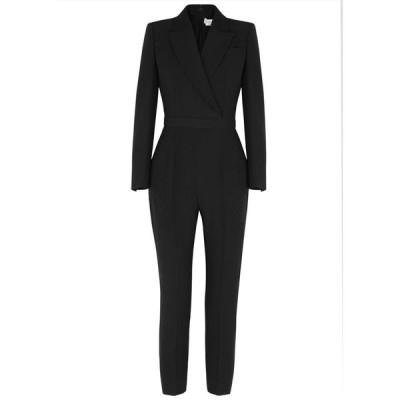 アレキサンダー マックイーン Alexander McQueen レディース オールインワン ジャンプスーツ ワンピース・ドレス black crepe jumpsuit Black