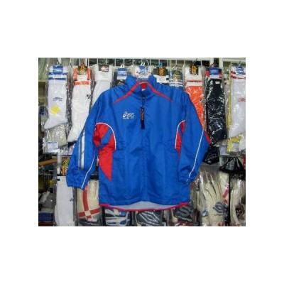 お得:アシックスプロブレーカーシャツ ブルー×レッド ジュニア