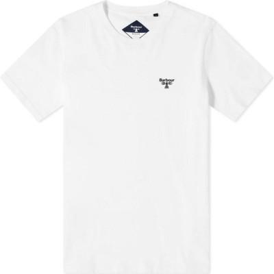 バブアー Barbour メンズ Tシャツ ロゴTシャツ トップス beacon small logo tee White