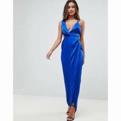 エイソス ワンピース Sexy Cut Out Strappy Maxi Dress Cobalt
