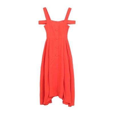 イサ アフェン ISA ARFEN 7分丈ワンピース・ドレス オレンジ 8 レーヨン 75% / 麻 25% 7分丈ワンピース・ドレス
