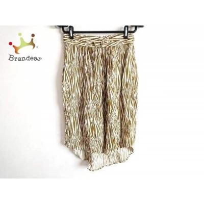 カブー KAVU スカート サイズXXS XS レディース カーキ×白     スペシャル特価 20200422