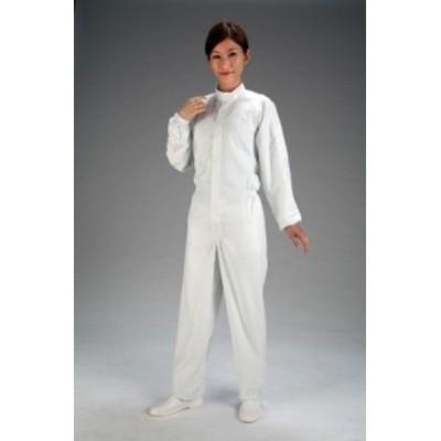 エスコ(ESCO) [L] クリーンルーム用継ぎ作業服(白/センターファスナー) EA996DB-2