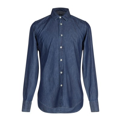 イレブンティ ELEVENTY デニムシャツ ブルー 44 コットン 100% デニムシャツ