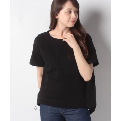 (Bou Jeloud/ブージュルード)異素材バックギャザーTシャツ/レディース ブラック