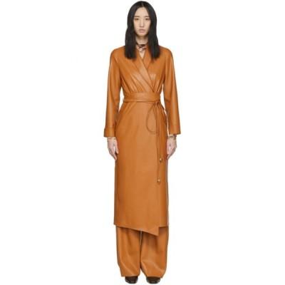 ナヌシュカ Nanushka レディース ワンピース ワンピース・ドレス Orange Vegan Leather Emery Coat Burnt orange