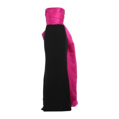 ランバン LANVIN ロングワンピース&ドレス フューシャ 34 シルク 100% / レーヨン / ポリウレタン ロングワンピース&ドレス