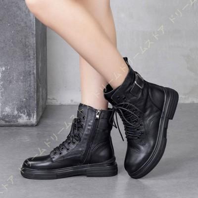 ブーツ 茶色 編み上げブーツ 袴 ローヒール ミドルブーツ 歩きやすい ショートブーツ レースアップ ブーツ 黒 レディース 靴 袴ブーツ 大きいサイズ 春ブーツ