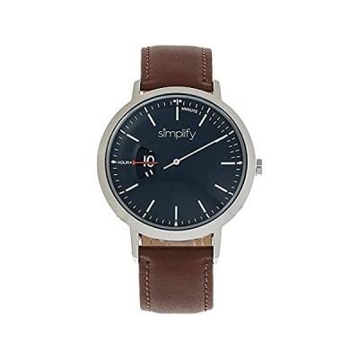 【新品】Simplify 6500 クォーツレザーバンド ユニセックス腕時計 SIM6500 Brown/Silver/Black/White <b>SKU: