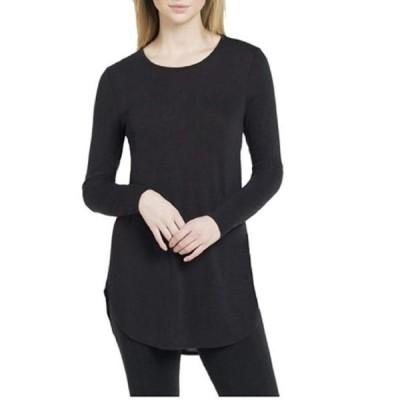 ユニセックス 衣類 トップス Joan Vass Ladies' Long Sleeve Tunic - Black (Small) ブラウス&シャツ