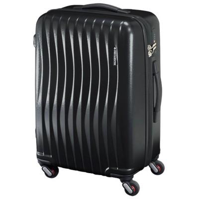 【カバンのセレクション】 フリクエンター ウェーブ スーツケース Mサイズ 56L FREQUENTER WAVE 1−621 軽量 静音 交換キャスター ダイヤルロック ユニセックス ブラック 在庫 Bag&Luggage SELECTION
