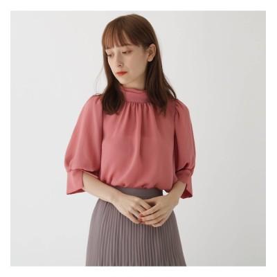 【AG バイアクアガール/AG by aquagirl】 ハイネックパフスリーブブラウス