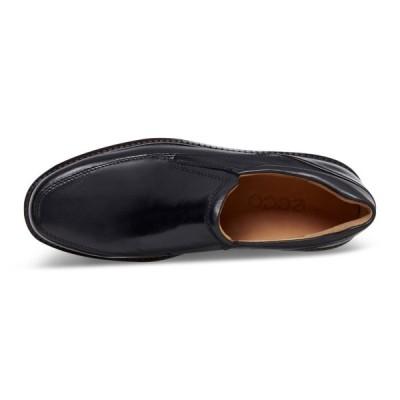 エコー ビジネスシューズ HOLTON Apron Toe Slip On メンズ BLACK EU 41(26 cm) 3E