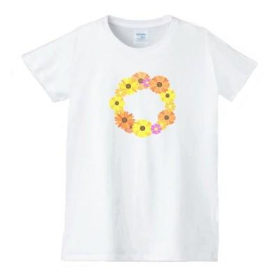 花 フラワー Tシャツ 白 レディース 女性用 jfw7