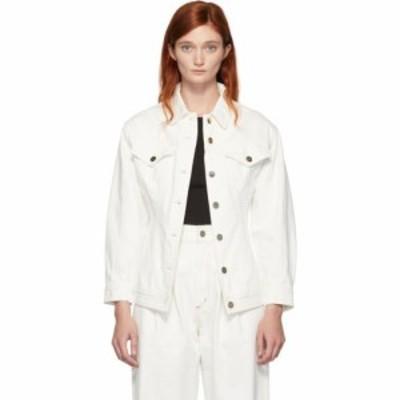 ゴールドサイン Goldsign レディース ジャケット Gジャン アウター white denim the waisted jacket Pearl