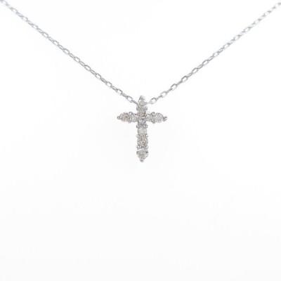 PT クロス ダイヤモンドネックレス