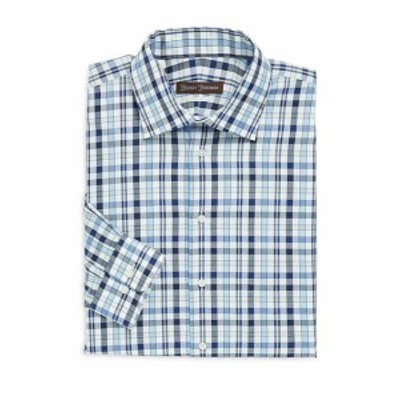 ヒッキーフリーマン Men Clothing Classic Fit Plaid Cotton Dress Shirt
