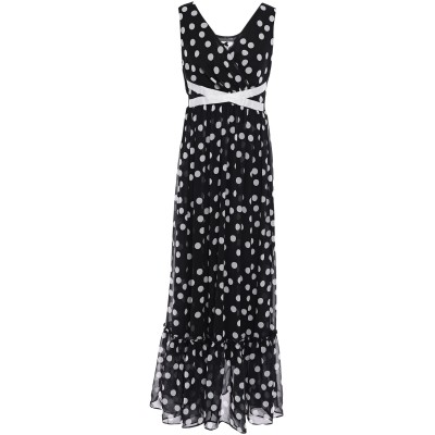 NO SECRETS ロングワンピース&ドレス ブラック 40 ポリエステル 100% ロングワンピース&ドレス