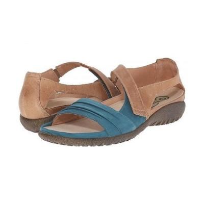Naot ナオト レディース 女性用 シューズ 靴 サンダル Papaki - Teal Nubuck/Latte Brown Leather