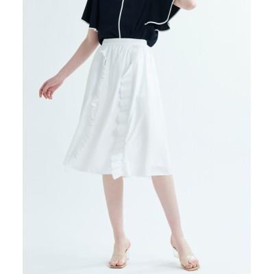 LANVIN en Bleu WOMEN / プリーツフリルスカート WOMEN スカート > スカート