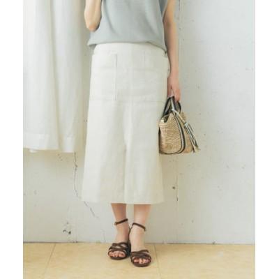 ストレッチリネンタイトスカート