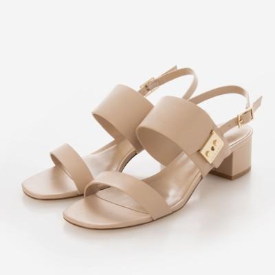 【2021 SUMMER 新作】ブロックヒール スリングバックサンダル / Block Heel Slingback Sandals (Nude)