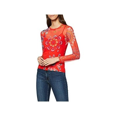 Desigual レディース Tシャツ 長袖 US サイズ: Small カラー: レッド 並行輸入品