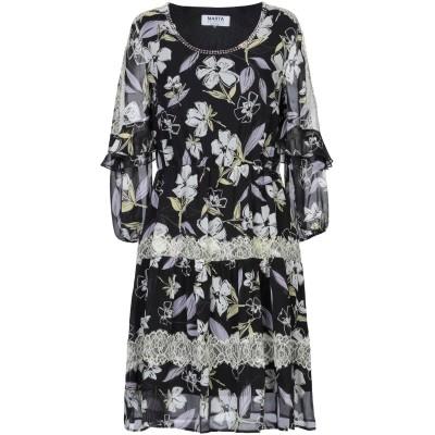 MARTA STUDIO ミニワンピース&ドレス ブラック 44 シルク 100% ミニワンピース&ドレス