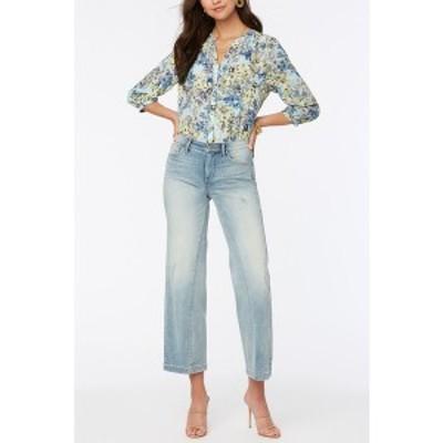 エヌワイディージェイ レディース デニムパンツ ボトムス Petite Teresa Wide Leg Ankle Jeans with Contoured Inseams Radiance