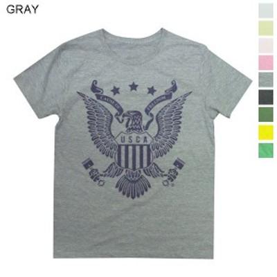 Tシャツ メンズ 半袖 アメリカンなイメージのイーグルモチーフ Tee 送料無料(d9-t)