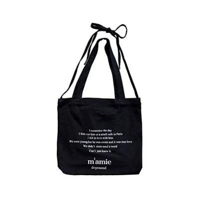 [アドグレイス]ado3-r16.5 トートバッグ キャンバス 布 おしゃれ かわいい a4 3色 レディース (ブラック)