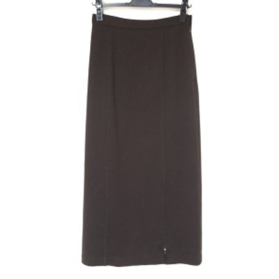 レオナール LEONARD ロングスカート サイズ64-91 レディース 美品 - ダークブラウン【中古】20210611