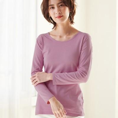 Ranan 【S~LL】<HOT THERMO>綿が優しい暖かインナー(Uネック8分袖) ソノタ L レディース