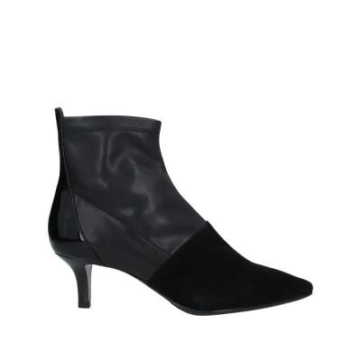 LUCIANO BARACHINI ショートブーツ ブラック 37 紡績繊維 ショートブーツ