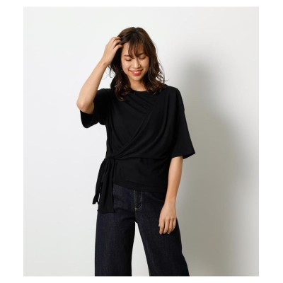 (AZUL by moussy/アズールバイマウジー)【接触冷感】【UVカット】【吸水速乾】ICE CLEAN LINK TOP/レディース BLK