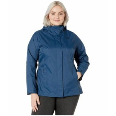 ノースフェイス レディース コート アウター Plus Size Venture 2 Jacket Blue Wing Teal