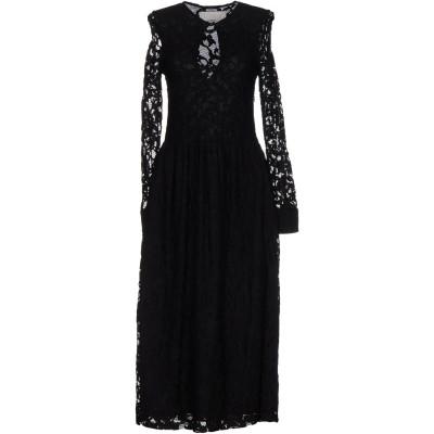 メルシー ..,MERCI 7分丈ワンピース・ドレス ブラック 40 レーヨン 70% / ナイロン 30% 7分丈ワンピース・ドレス