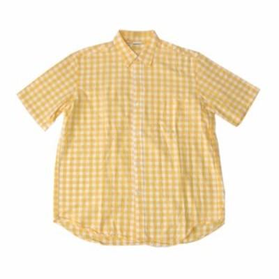 KENPEL ケンペル ブロックチェックシャツ (タータンチェック 半袖 黄色 ドイツ) 120149 【中古】