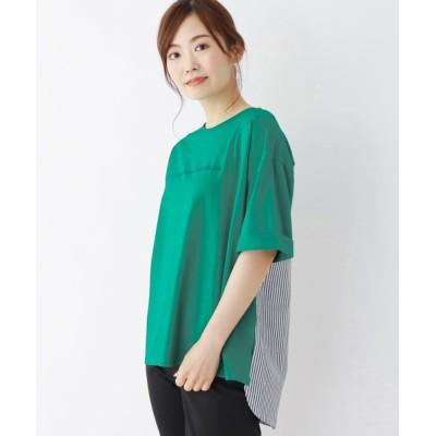 SHOO・LA・RUE / 【M-L】バックストライプ切替えTシャツ WOMEN トップス > Tシャツ/カットソー